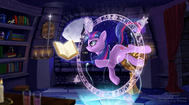 Twilight Sparkle epic reading EXTRA HD by CountCarbon