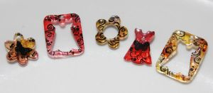 Stamped Shrink Plastic Charms by No-Avail