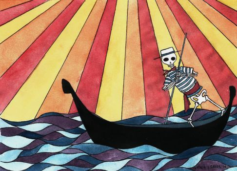 Death in Venice illustration by Natalie-CaLoie