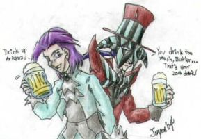 Cheers, Butler and Arkana by Fai-Ness