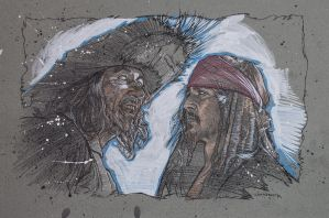 Pirates of the Caribbean Drawing by canosard