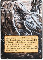 Magic Card Alteration: Pox by Ondal-the-Fool