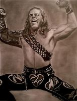 Shawn Michaels Pose Portrait by dwgrafix