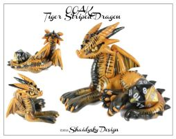 OOAK Tiger Striped Dragon by ShaidySkyDesign