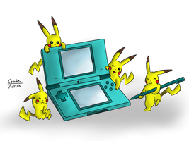 Pokemon DS by mytigertail