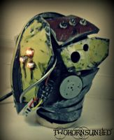 The ''Glitch'' Cyberpunk mask by TwoHornsUnited