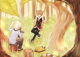 [Commission] Deep in the forest by Akeita