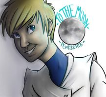 To The Moon!-Pewdiepie by TheTinyTaco