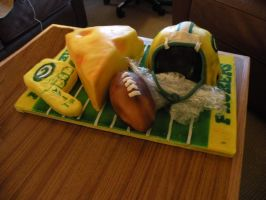 Green Bay Packers cake 2 by cake-engineering
