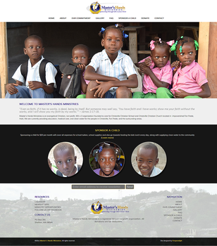 Master's Hands Ministries Website by fireproofgfx