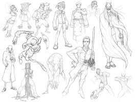 Character Sketches by MurderousAutomaton