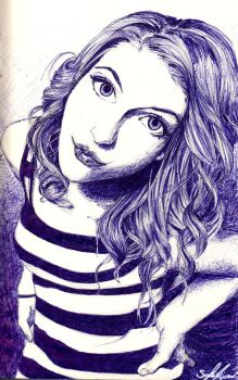 Hayley Williams - Ball Point Pen by zzoffer