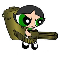 Buttercup Weapon: Gattling Gun by gamefanPPG