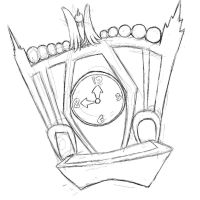 Count Duckula Cuckoo Clock Rough by systemcat