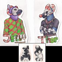 Jelly and Thor convention tags by BestrafexMich