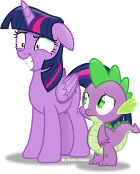 Twilight trying to stay composed by Vector-Brony