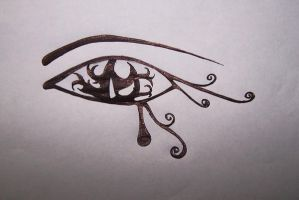 Egyptian Eye by erimenthaofnyx
