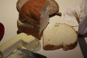 Fresh warm bread and butter ! by renman1605