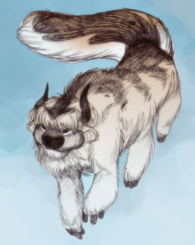Sky Bison by selonian