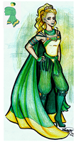 Winter Character Design Entry: Daughter of Summer by BreathlessDragon