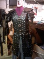 Elven leather armor by Grymskald