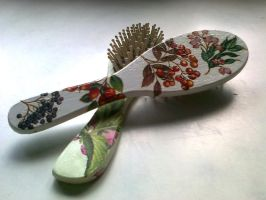 Decoupage Comb by pete7868