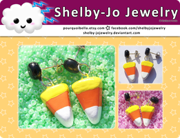 Candy Corn Earrings by Shelby-JoJewelry