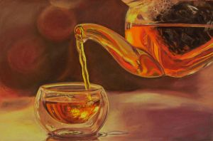 Raising the pastel challenge: Golden liquids by LuthienneTinuvielle