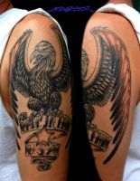 Made in the USA Eagle Tattoo by MuddyGreen