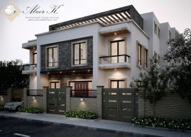 New cairo's villa - exterior by kasrawy