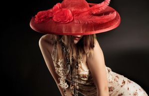 The Lady in the Red Hat by MSlygh