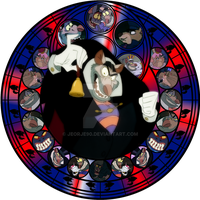 Ratigan stained glass by jeorje90