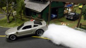 Unnoticedtrails Mustang Sideways by hankypanky68