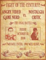 AVGN vs NC Final Battle Poster by TheGoldenIdol