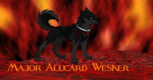 Major Alucard Wesker (wolf form) by AlucardWesker666