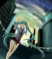 At dawn. --- Hatsune Miku by pokeguin