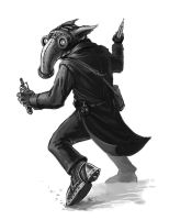 Victoriana-The Springheeled Menace:Beastman Robber by ScottPurdy