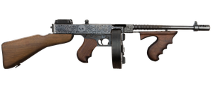 Thompson submachine gun painted graphics. by PatB91