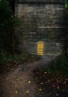 PremadeBackground Yellow Door2 by simfonic