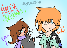 Madi and Katia's 2013 Christmas Card by Samagirl