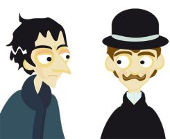 vecotrised Holmes and Watson by elina-elsu