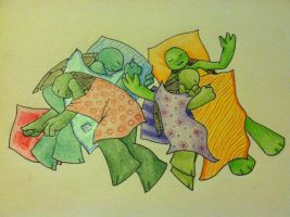 Turtle-Tots: Naptime by tugger-lotus