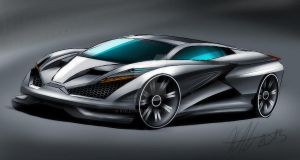 Gray Supercar concept by koleos33