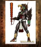 Eagle Warrior concept character art by Jaime-Gmad