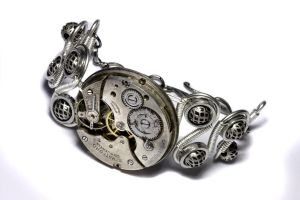 Steampunk Bracelet Silver 2 by CatherinetteRings