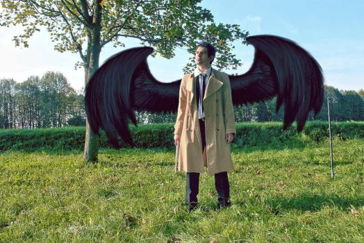 Castiel Cosplay 01 by CainHargreaves
