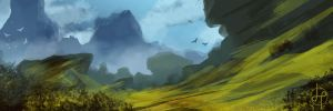 Speed Painting Land Scape June by GenoPunk