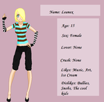 Leanex's Application by Miharu-Lawliet