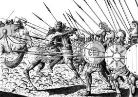 Macedonian phalanx by mietlik