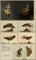 Steampunk earrings set. by Asaurus